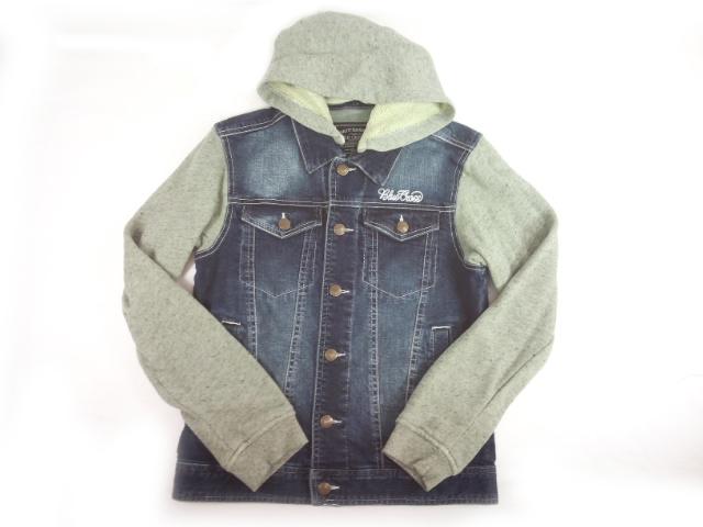 【セール】BLUECROSS(ブルークロス)★取り外し可能フード付き異素材コンビのデニムジャケット