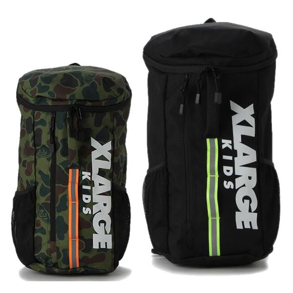 エクストララージキッズ XLARGE KIDS 縦ロゴバケツ型バックパック かばん 黒 カーキ 迷彩柄 ブラック フリーサイズ