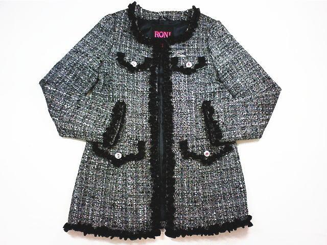 【さらに値下げしました!!】☆セール☆RONI(ロニィ)★ラメツイードロングジャケット