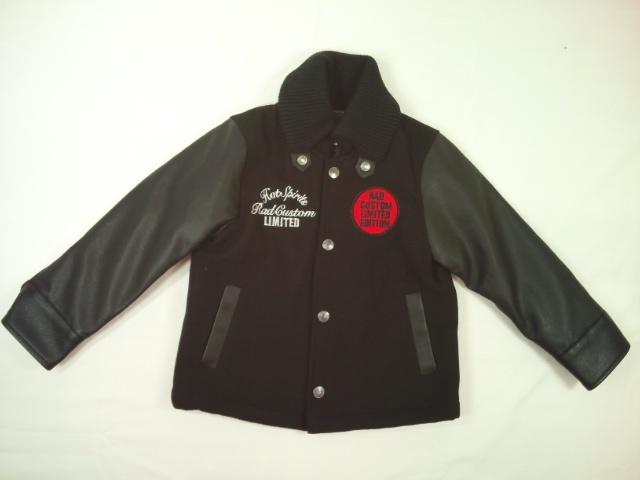 【セール】RADCUSTOM(ラッドカスタム)★メルトン袖合皮のバック豪華刺繍スタジアムジャケットコート