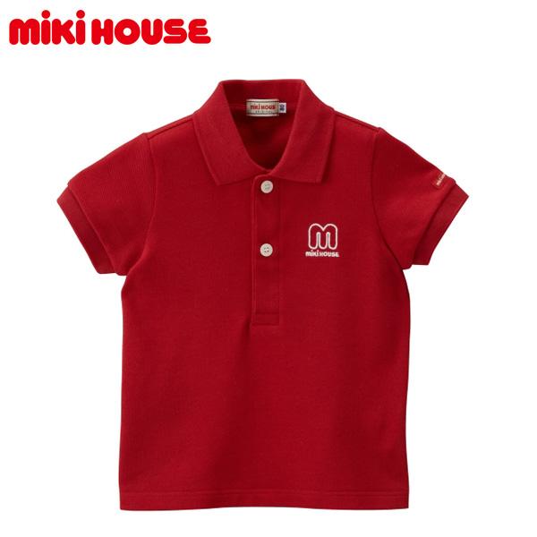お取り寄せ商品 MIKI オリジナル HOUSE 正規取扱店 MIKIHOUSE ミキハウス 現品 90 80 mロゴ半袖ポロシャツ ベビー 100cm