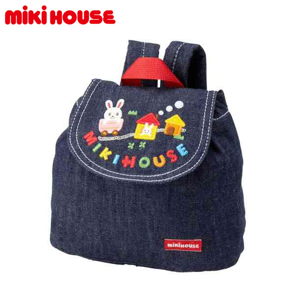 お取り寄せ商品 MIKI HOUSE 正規取扱店 MIKIHOUSE ミキハウス 大放出セール 登場大人気アイテム ベビー うさこデニム ベビーリュック