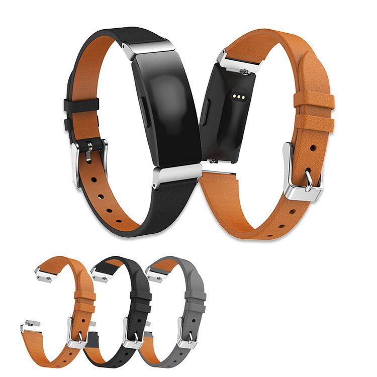 Fitbit 交換バンド Inspire /Inspire HR 高級PUレザー 本革調 レザーベルト Fitbit Inspire / Fitbit Inspire HR 交換リストバンド