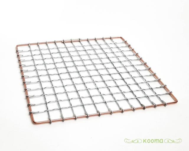 七輪の替え網としてご使用下さい 焼き網 角型 七輪用 替え網 コンロ 七輪 スーパーセール期間限定 約15×15cm 付与