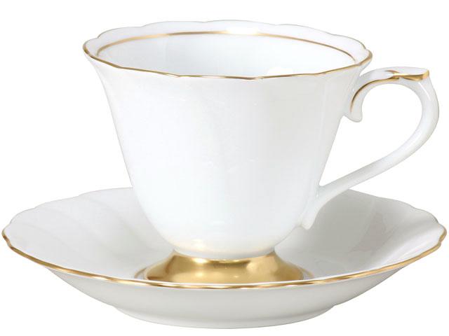 大倉陶園 日本製【大倉陶園 プリンセス コーヒーカップ&ソーサー 46C/1501】洋食器 陶磁器 コーヒー ギフト 贈り物 贈答品 引出物 内祝い お祝い