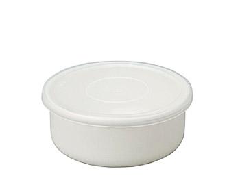 直営店 琺瑯なので保存容器にも オーブン料理にも サイズ豊富で揃えられます 野田琺瑯 ギフト プレゼント ご褒美 ホーロー White Series ラウンド 丸型 琺瑯 ※箱なし RD-14 約14cm シール蓋 保存容器 シール蓋付き