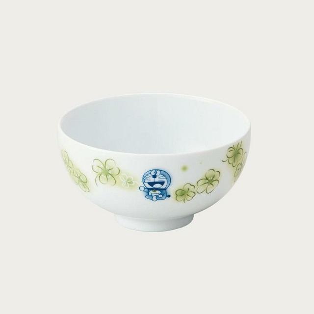 ドラえもんの原作コミックスのイラストを使ったお茶碗 ノリタケ Noritake ドラえもん お花シリーズ 誕生日/お祝い 飯碗 クローバー ご贈答 ボウル DORAEMON DT91082 お茶碗 スーパーセール 1735-6L