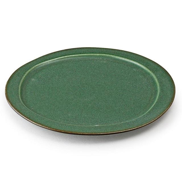 カラーが魅力 2020 新作 おしゃれな器 翠シリーズ アイトー 美濃焼 日本製 翠 Sui 大皿 翠まつば 288037 陶器 まつば色 和洋兼用 年中無休 おしゃれ シンプル 松葉色 メインプレート ワンプレート 盛り皿 グリーン 緑