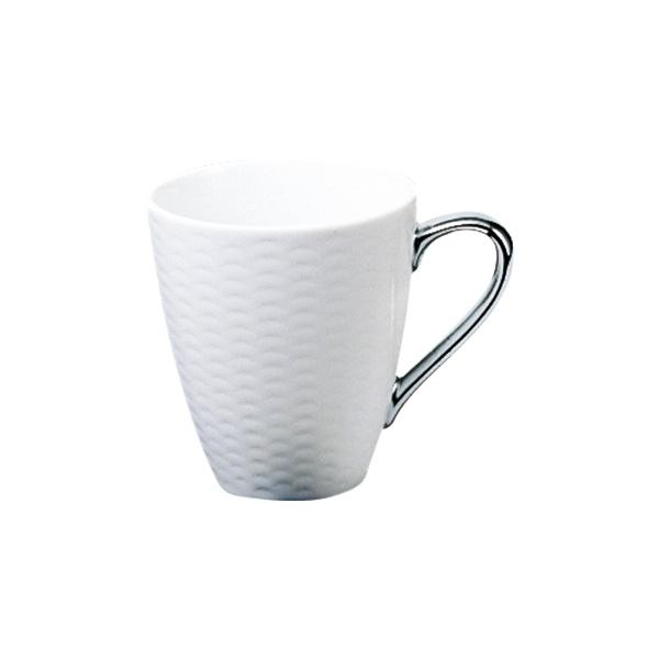 白磁に地模様がありシャープなデザイン ハンドル部分のみに銀加飾を施したマグカップ ノリタケ Noritake アミ Amis マグカップ 気質アップ 銀 シルバー T5355L 1606 内祝い 贈答品 お祝い 白 陶磁器 コーヒー ギフト 紅茶 洋食器 毎日がバーゲンセール 贈り物 シンプルモダン