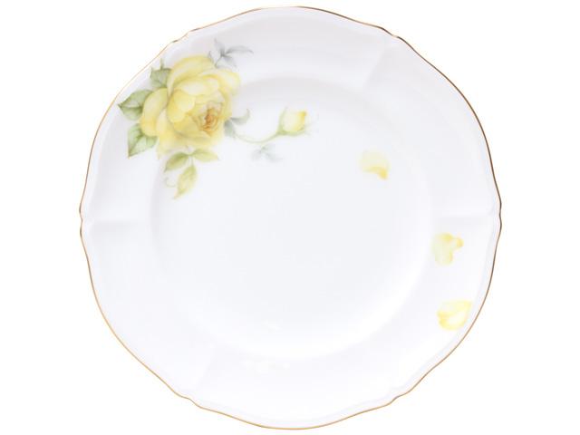 大倉陶園 日本製【大倉陶園 フェアリーローズ グラハムトーマス 21cmケーキ皿 75H/5701-2】洋食器 陶磁器 ケーキ皿 丸皿 花柄 バラ ご贈答 ギフト プレゼント お祝い 母の日 敬老の日