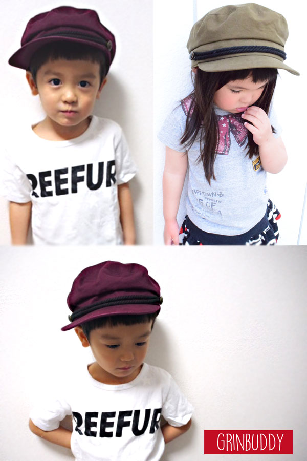 KidsSTMarinCap(GRINBUDDY)帽子キッズ子供男の子女の子マリンキャップ親子お揃いペアシンプル