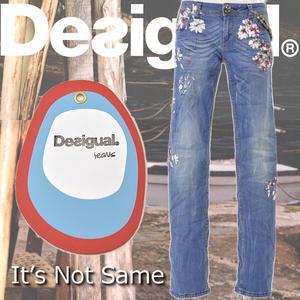 スペインブランド Desigual デスイグアル ディスイグアル デシグアル刺繍デザインウォレットチェーン付きデニム サイズ 24 26 28 30 32送料無料2013 S S完売商品bgvf7Yy6
