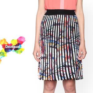 セール SALE 30%off Desigual デシグアル レディース スカート 春物 夏物 ブラック ひざ上 ショート ミセスファッション 30代 40代