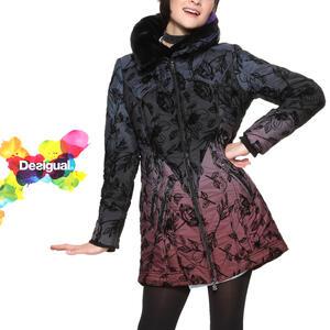 parhaat hinnat Tarkista viralliset valokuvat Sale SALE 30%off デシグアル Desigual batting coat Lady's winter clothing Mrs.  fashion outer jacket fur floral design 50 generations in 30s in 40s