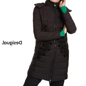 Desigual デシグアル レディース ミセス ファッション アウター 中綿コート フード ファー フロッキー おしゃれ 30代 40代 50代【ブラック】【M/L/XL/XXL/3L/4L/大きいサイズ】