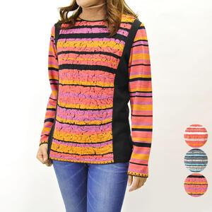 冬物レディース ニットセーター ファッション 40代 50代 高級 大きいサイズ プレゼント 贈り物 長袖 旅行 おでかけ【送料無料】