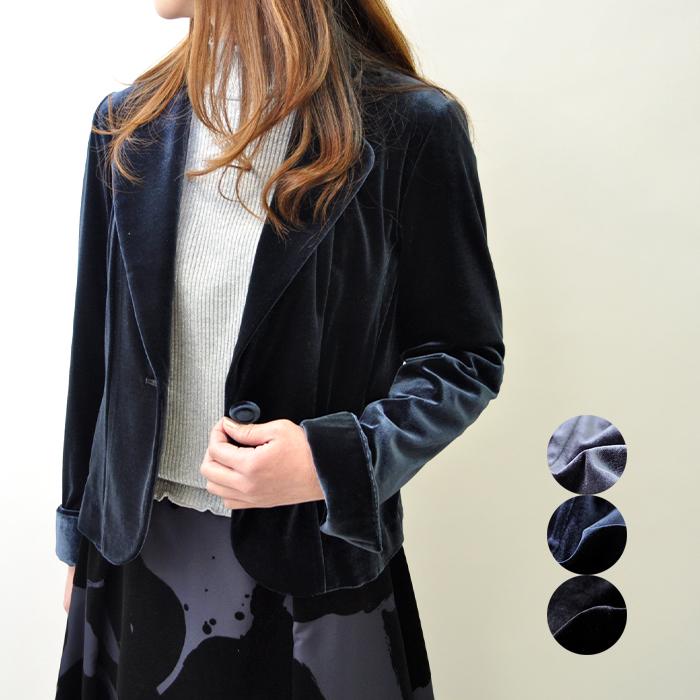 ベロアジャケット レディース ミセスファッション パーティー 式典 ディナー ミセスファッション 40代 50代 おしゃれ 【グレー/ネイビー/ブラック】【送料無料】