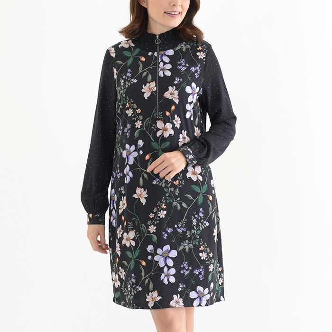 e1068c221d386e トラモンターナ TRAMONTANA dress floral design dress dot foreign countries import  fashion Mrs. Lady s women s wear ...