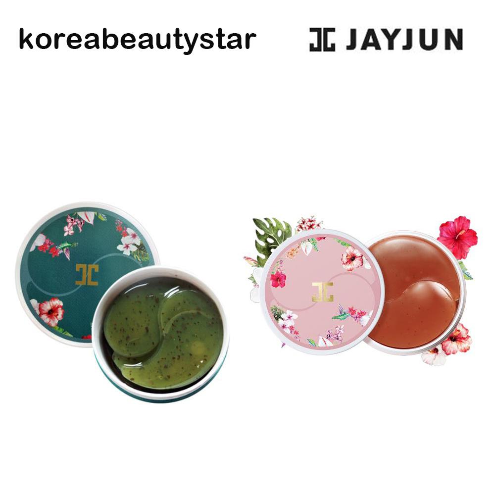 JAYJUN Green Tea+ Roselle Tea Eye Gel Patch1.4g x60ea アイマスク 爆安 緑茶 韓国化粧品 初回限定 アイパッチ グリーンティー+ローズ SNS マスク アイジェルパッチ1.4g