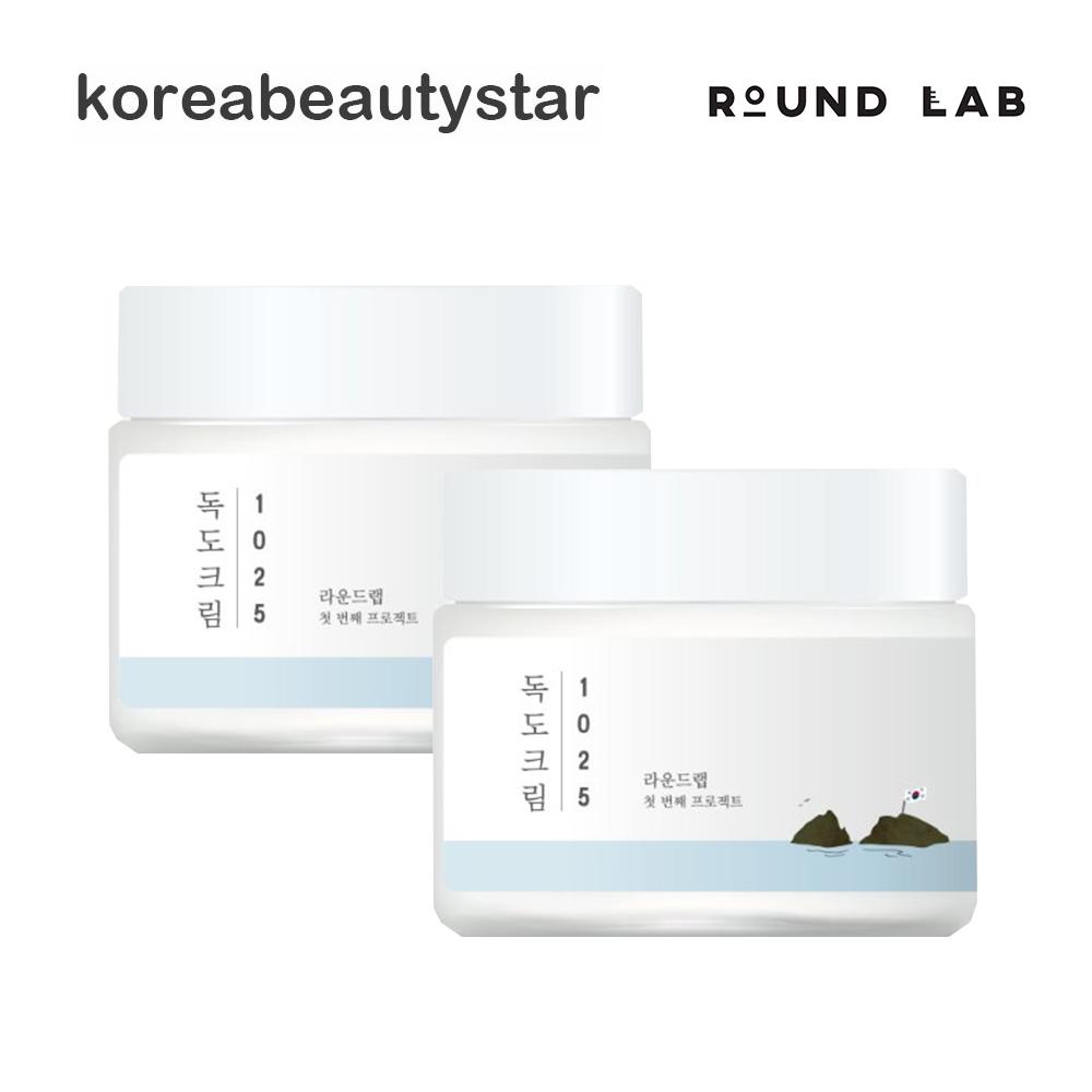 年中無休 Round Lab 1025 Dokdo Cream 80mlx2個 送料無料 1025独島クリーム80mlx2個 入手困難 韓国コスメ ラウンドラボ