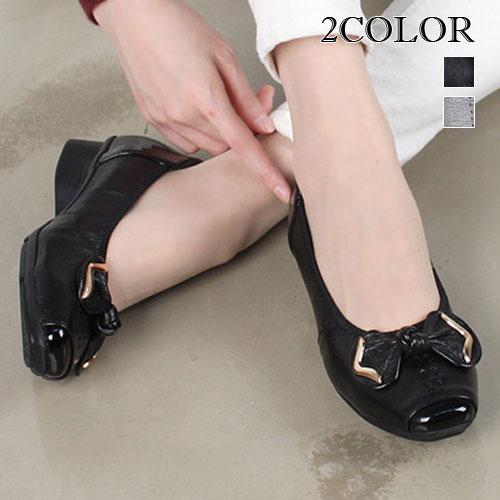 2色本革フラットシューズ レディース フラットシューズ レディース シューズ 本革 シューズ リボン スニーカー 本革 靴 レザー シューズ ローヒール シューズ 女性用 靴 シューズ ブラック レディース 22.5cm VOCE