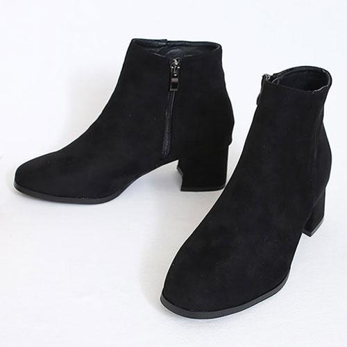 サイドジップブーツ レディース シューズ ヒール ブーツ ブラック シューズ レディース ブーツ 太いヒール シューズ ミドルヒール ブーツ レディース 靴 女性 アンクルブーツ 背伸び シューズ 女性 靴 美脚 シューズ サイドジップ ショートブーツ VOCE