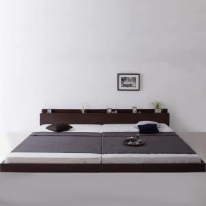 【送料無料】【ワイドK280(DxD)】ベッド(マットレス付き)【ゼルトスプリングマットレス】【ロースタイル】【棚コンセント付き】/ベッド マットレス付き マットレス付きベッド マット付き 寝具 人気 おすすめ