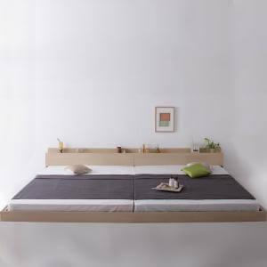 【送料無料】【ワイドK280(DxD)】ベッド(マットレス付き)【羊毛入りゼルトスプリングマットレス】【ロースタイル】【棚コンセント付き】/ベッド マットレス付き マットレス付きベッド マット付き 寝具 人気 おすすめ