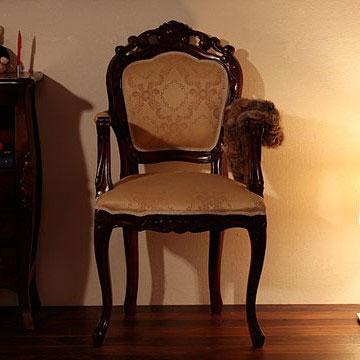 【送料無料】チェア【ひじ掛け付き】/アンティーク調家具 ヴィンテージ 古き良き時代 アンティークデザイン エレガント こだわり おしゃれな猫脚 ラグジュアリー 高級感ゆったり空間 贅沢 イス チェア