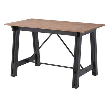 【期間限定クーポン配布中】【送料無料】ダイニングテーブル【幅120cm】/ダイニングテーブル テーブル カントリー アメリカン 天然木 木製 おしゃれ 新生活 新居 ファミリー シンプル 素敵 アイアン 家族 家族団らん