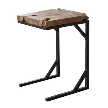 【送料無料】サイドテーブル/サイドテーブル テーブル 机 カフェテーブル コーヒーテーブル 小さめ モダン おしゃれ 新居 模様替え 人気 おすすめ シック シンプル リビング 寝室 天然木 アイアン カントリー クラシック