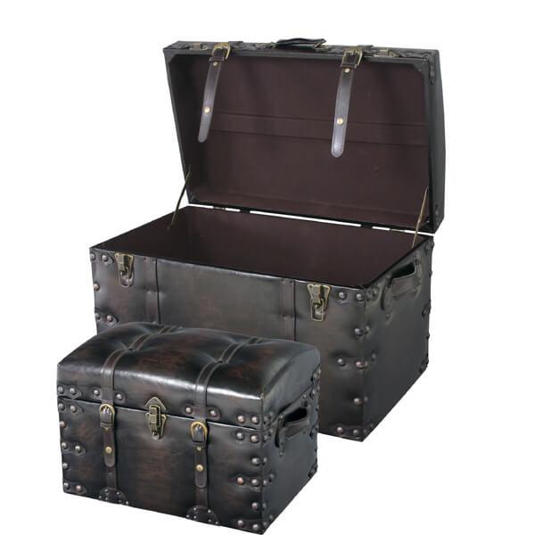 【送料無料】【2個セット】収納ボックス【トランク型】/トランク 小物収納 小物入れ 小物ケース 小物収納ケース 収納ケース 収納トレー 収納家具 整理 整頓 片付け かたづけ
