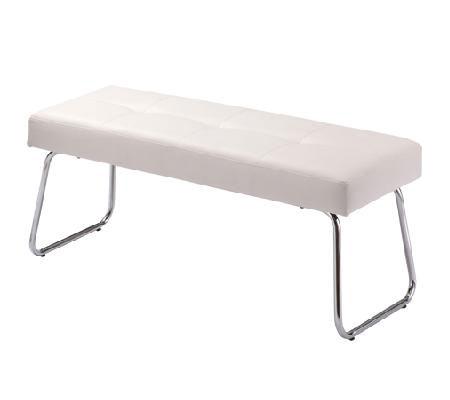 【送料無料】ベンチ(100cm幅)/ベンチ スチール モダン 北欧 スタイリッシュ シンプル おしゃれ 座面広め ダイニング 合皮 白 黒 ホワイト ブラック いす イス 椅子