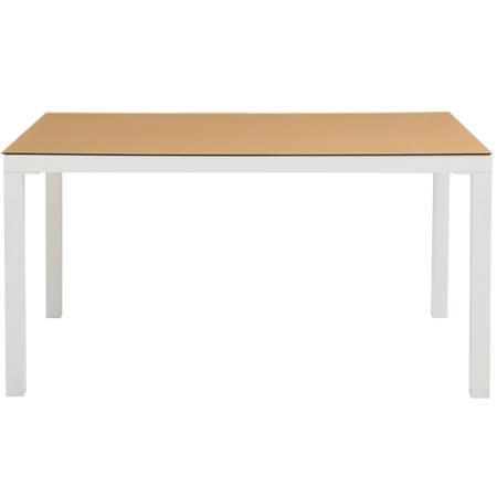 【送料無料】テーブル(幅135cm)/食卓机にぴったりのおしゃれでシンプルな長方形テーブル 飛散防止 生活用品 インテリア 雑貨 インテリア 家具 テーブル ダイニングテーブル