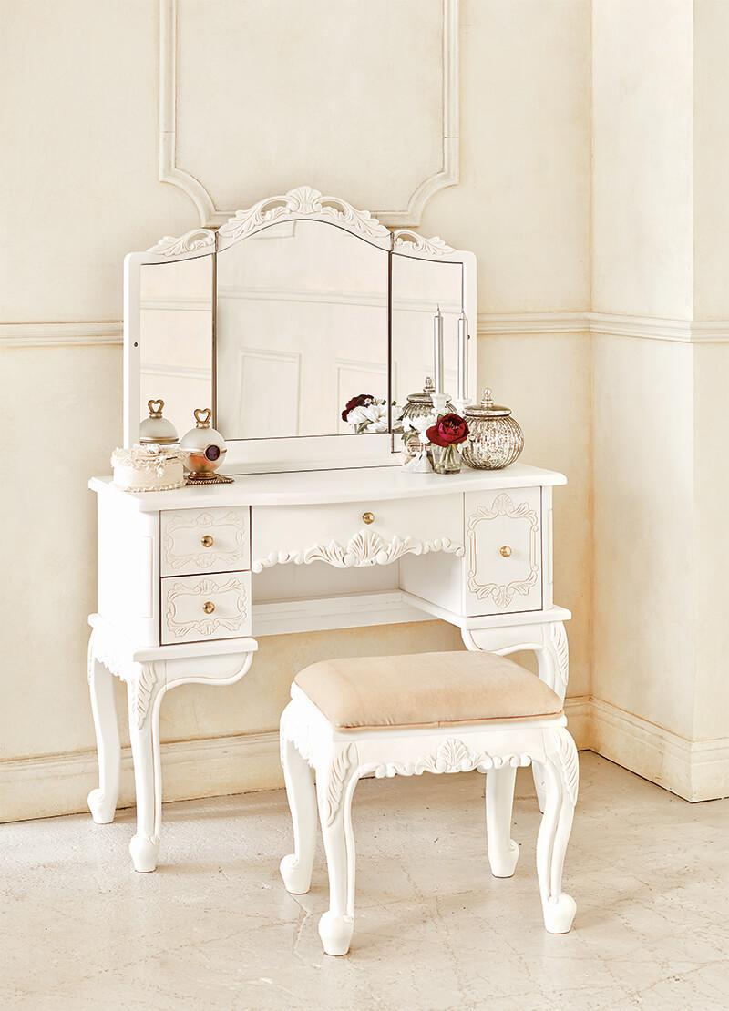 Dresser Set / Dresser Mirror Makeup Dressing Table Dressing Table Make Desk  Makeup Desk Bedroom Dresser Table Table Mirror Mirror Kagami Stoops Down;  ...
