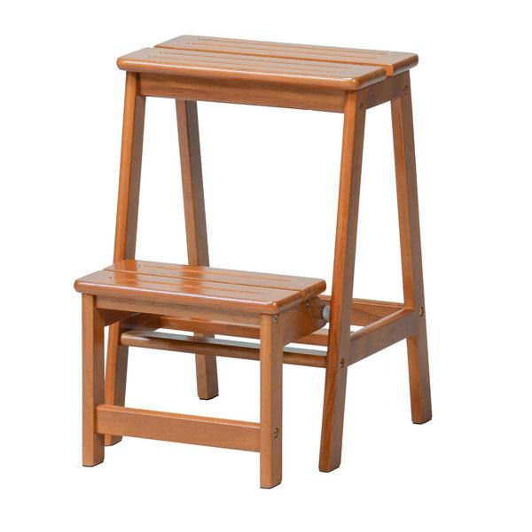 【クーポン配布中※期間限定】【天然木】ステップチェア【2段】/ステップ 台 ステップチェア ステップチェアー 梯子 踏み台 椅子 イス いす チェア チェアー 折り畳み 木製 イス いす 学習椅子 学習チェア 家具 インテリア インテリア雑貨 雑貨
