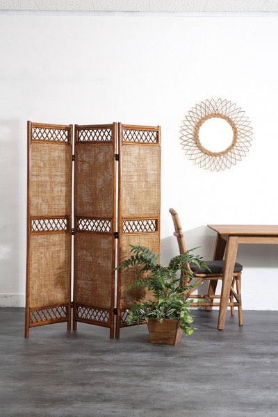 Screen (three) / Furniture Rattan Furniture Interior Screen Partition  Partition Partitioning Blindfold Partition Screen Screen Japanese Style  Room Living ...