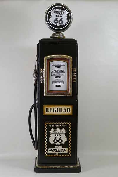 レトロなガソリンスタンド型BOXブラック