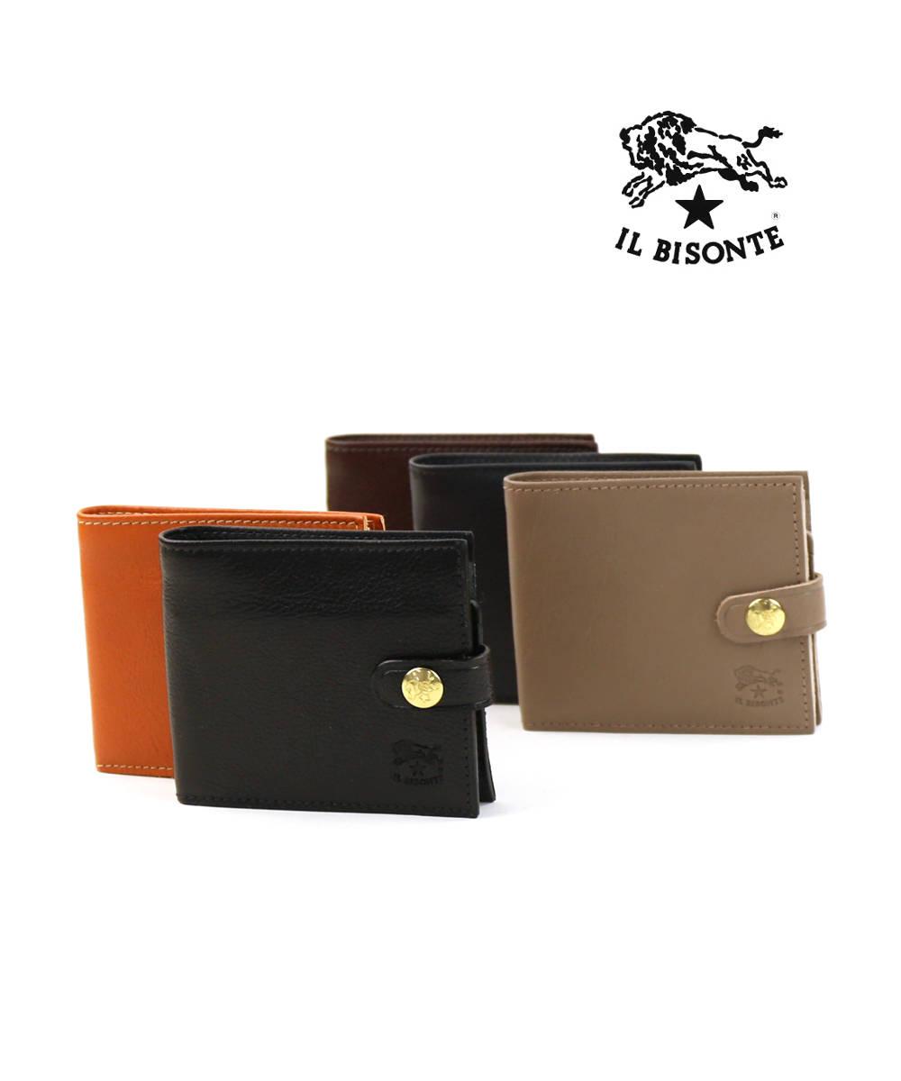 IL BISONTE(イルビゾンテ)レザー 二つ折り財布 ミニウォレット・54172304340-0061802【メンズ】【レディース】【■■】