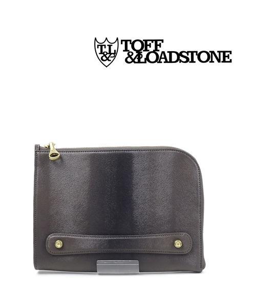 TOFF&LOADSTONE(トフアンドロードストーン)ミンク 型押し レザー クラッチバッグ Clutch Mink・TM-1540-1471902【メンズ】【■■】