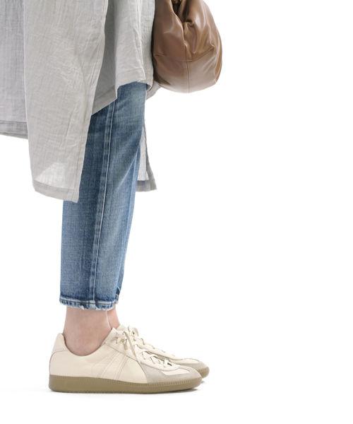 送料無料 2021年秋冬新作 B-1 REPRODUCTION OF FOUND リプロダクション オブ ファウンド アウトレットセール 特集 レザー レースアップ MILITARY 1700L-4612102 GERMAN ■■ レディース スニーカー 靴 シューズ ジャーマンミリタリートレーナー TRAINER お値打ち価格で
