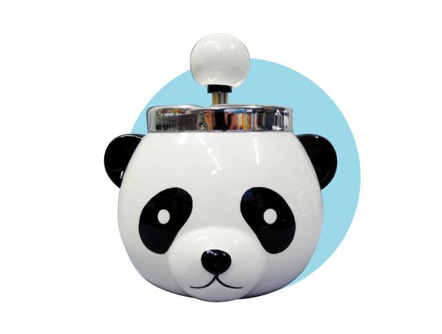 パンダ 大熊猫 引き出物 サービス アニマル かわいい 楽しい ジョーク 面白雑貨 たばこ 煙草 フタ付灰皿 灰皿 インテリア 喫煙具 プッシュ式 回転 陶器 グローにも プレゼント アイコス IQOS フタ付き glo 雑貨 パンダ灰皿 ギフト