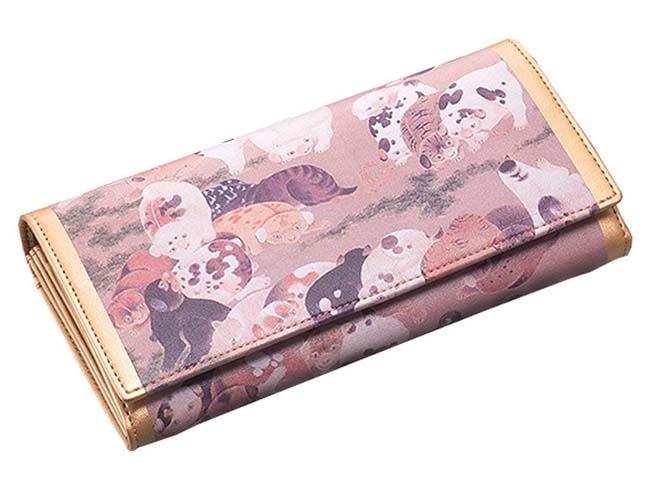 【すぐに使える10%OFFクーポン】伊藤若冲 子犬の長財布