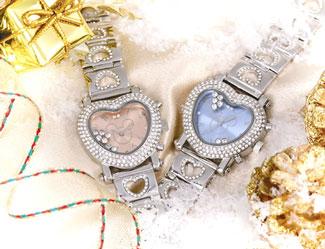 【すぐに使える10%OFFクーポン】デリシャスハートミッキー腕時計【送料無料】大ヒット映画「ファンタジア」の66周年を記念、世界で2000本の限定販売!針が反時計回りに動くなんともマジカルな腕時計!!