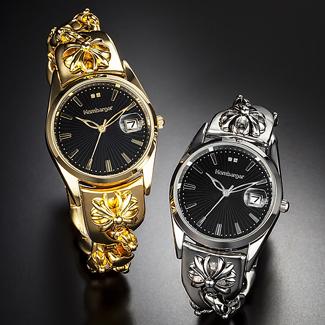 【すぐに使える10%OFFクーポン】オムバーガー ガイアール腕時計 【送料無料】 人気スイスブランドHombarger(オムバーガー)よりこだわりの腕時計!文字盤には天然ダイヤモンドを2石使用した高級感漂う自信作!