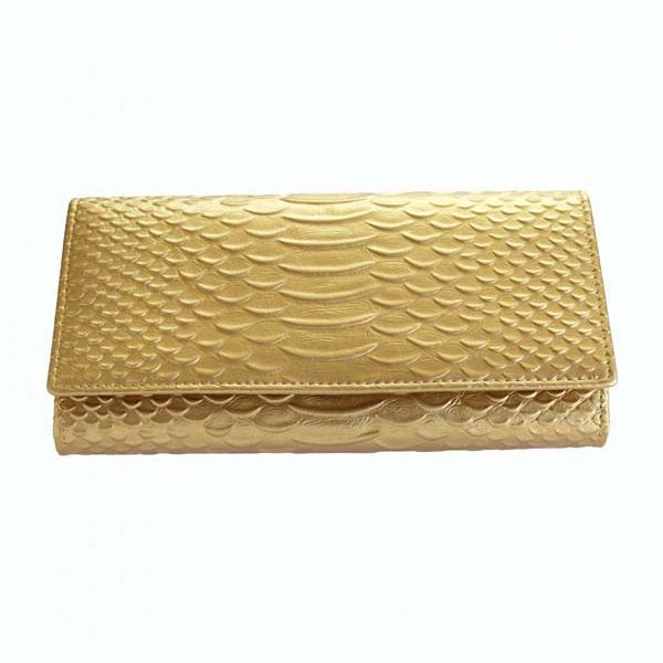 【すぐに使える10%OFFクーポン】黄金色の蛇柄金運如意財布【送料無料】無限の富と永遠の繁栄をもたらす象徴として崇拝されてきた蛇!