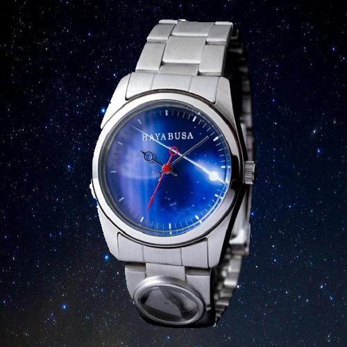 【すぐに使える10%OFFクーポン】はやぶさ 帰還記念 隕石腕時計 (正規品)【送料無料】小惑星探査機「はやぶさ」帰還記念限定ウォッチ