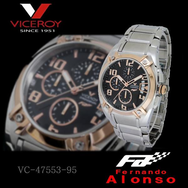 【すぐに使える10%OFFクーポン】VICEROY &フェルナンド・アロンソメンズウォッチ クロノグラフ腕時計 ピンクゴールドVC-47553-95!