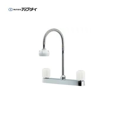 【送料無料】KAKUDAI/カクダイ 151-008 2ハンドル混合栓(シャワーつき) 水栓金具【最安価格挑戦中】