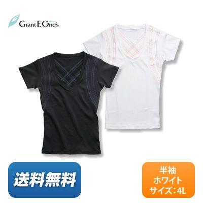 【送料無料】グラント・イーワンズ BiBi Grant ビビ メンズ パンプ 半袖 〈カラー:ホワイト / サイズ:4L〉